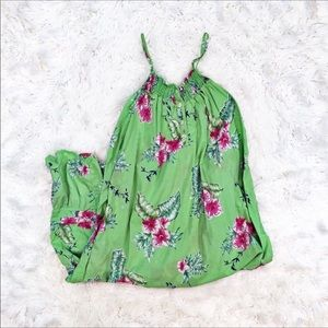 Soft surroundings Green Tropical Print nightgown
